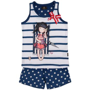 Vêtements Fille Pyjamas / Chemises de nuit Admas Pyjama short débardeur Summer Days Santoro marine Bleu Marine