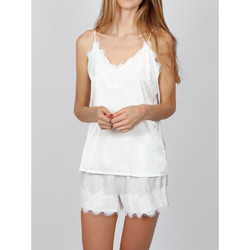 Vêtements Femme Pyjamas / Chemises de nuit Admas Pyjama Soft Crepe blanc Blanc