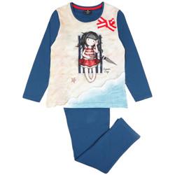 Vêtements Fille Pyjamas / Chemises de nuit Admas Pyjama manches longues pantalon Summer Days Santoro Bleu Marine