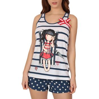 Vêtements Femme Pyjamas / Chemises de nuit Admas Pyjama débardeur short Summer Days Santoro Bleu Marine