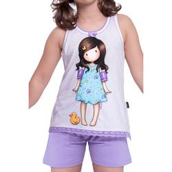 Vêtements Femme Pyjamas / Chemises de nuit Admas Pyjama short t-shirt Little Duck Santoro ivoire Ivoire