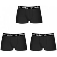 Sous-vêtements Homme Boxers Umbro Lot de 3 Boxers coton uni homme Noir