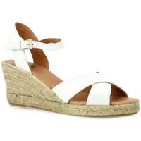Chaussures Femme Espadrilles Pao Espadrille velours lamine Blanc