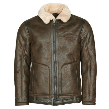 Vêtements Homme Vestes en cuir / synthétiques Petrol Industries JACKET IMITATION SHEARLING Marron