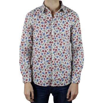 Vêtements Homme Chemises manches longues Kebello Chemise à motifs Taille : H Blanc S Blanc