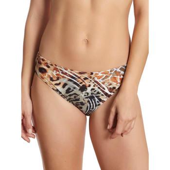 Vêtements Femme Maillots de bain séparables Selmark Bas maillot de bain bikini Animal  Mare Marron