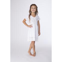 Vêtements Fille Robes courtes La Cotonniere ROBE DAVINA Blanc