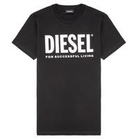 Vêtements Enfant T-shirts manches courtes Diesel TJUSTLOGO Noir