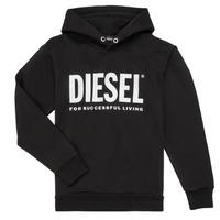 Vêtements Garçon Sweats Diesel SDIVISION LOGO Noir