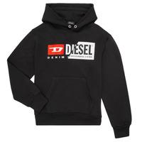 Vêtements Enfant Sweats Diesel SGIRKHOODCUTY Noir