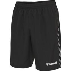 Vêtements Garçon Shorts / Bermudas Hummel Short enfant  Training Authentic noir/blanc