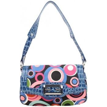 Sacs Femme Sacs porté épaule Fuchsia Sac à rabat  toile motif rond multicolore Bleu bleu