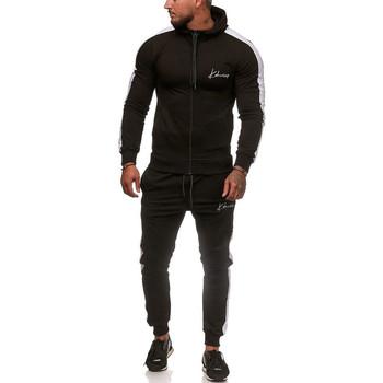 Vêtements Homme Ensembles de survêtement Monsieurmode Ensemble jogging streetwear Survêtement 3392 noir, Blanc Noir