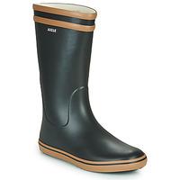Chaussures Femme Bottes de pluie Aigle MALOUINE Noir / Camel