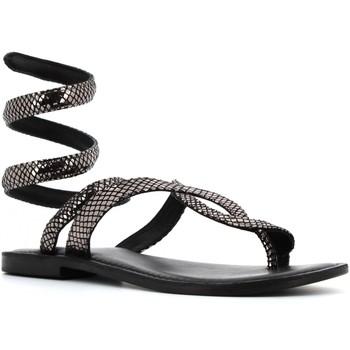 Chaussures Femme Sandales et Nu-pieds Cb Fusion CBF.R217037 GUN Nero / argento