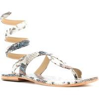 Chaussures Femme Sandales et Nu-pieds Cb Fusion CBF.2220001 Bianco pitonato