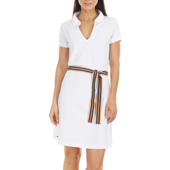 Vêtements Femme Robes courtes Selmark Robe estivale Marinera Jacquard  Mare Blanc