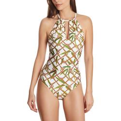 Vêtements Femme Maillots de bain 1 pièce Selmark Maillot de bain 1 pièce tour de cou multipositions Bambu Blanc