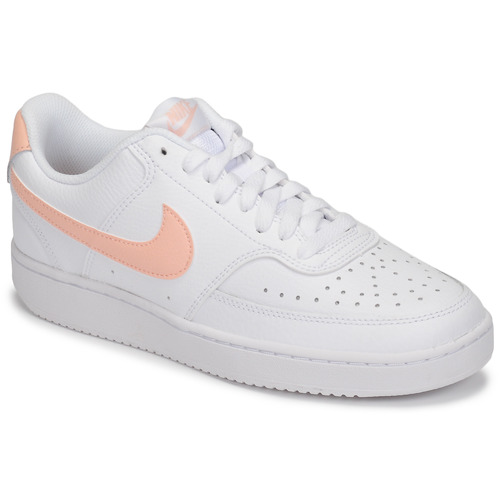 Chaussures Femme Baskets basses Nike COURT VISION LOW Blanc / Rose