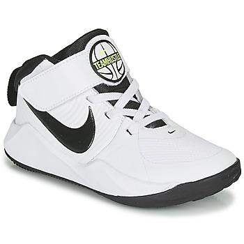 Chaussures Garçon Basketball Nike TEAM HUSTLE D 9 PS Blanc / Noir