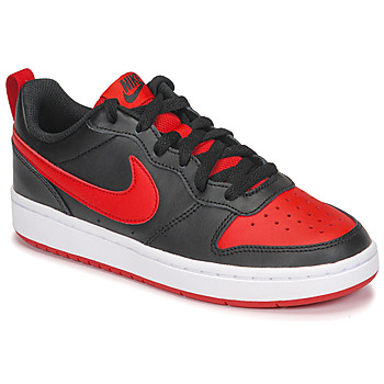 Chaussures Enfant Baskets basses Nike COURT BOROUGH LOW 2 GS Noir / Rouge
