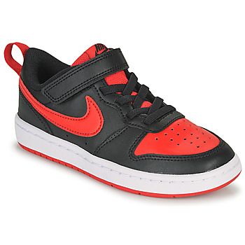 Chaussures Enfant Baskets basses Nike COURT BOROUGH LOW 2 PS Noir / Rouge