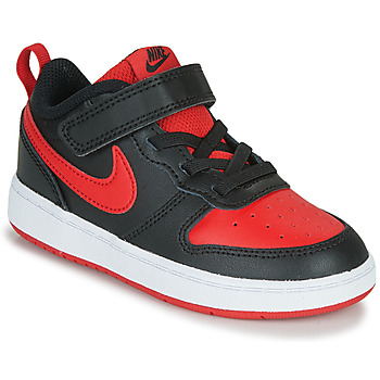 Chaussures Enfant Baskets basses Nike COURT BOROUGH LOW 2 TD Noir / Rouge