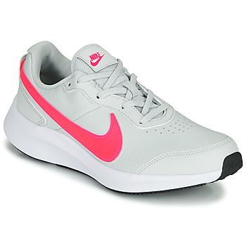 Chaussures Fille Baskets basses Nike VARSITY LEATHER GS Blanc / Rose