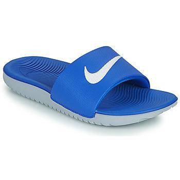 Chaussures Enfant Claquettes Nike KAWA GS Bleu / Blanc