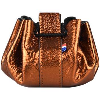 Sacs Femme Porte-monnaie Etrier Porte-monnaie Etincelle cuir ETINCELLE IRISEE 080-0EETI655 CUIVRE