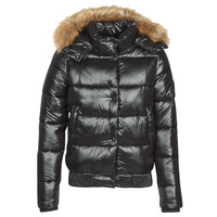 Vêtements Femme Doudounes Superdry HIGH SHINE TOYA BOMBER Noir