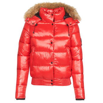 Vêtements Femme Doudounes Superdry HIGH SHINE TOYA BOMBER Rouge