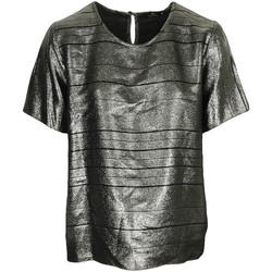 Vêtements Femme Tops / Blouses Paul Smith Top col rond ample lamé Swirl noir