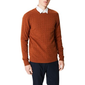 Vêtements Homme Pulls Kebello Pull tricot col rond Taille : H Orange S Orange