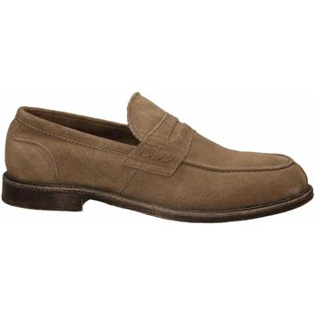 Chaussures Homme Mocassins Café Noir MOCASSINO CON PASSANTE IN SCAMOSCIATO 273-taupe