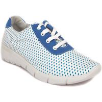 Chaussures Femme Baskets basses Arcopedico JUNO-F82 AZUL-BLANCO Deportivas
