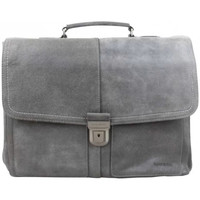 Sacs Porte-Documents / Serviettes Patrick Blanc Porte documents cuir brut  416002 Gris S2 Multicolor