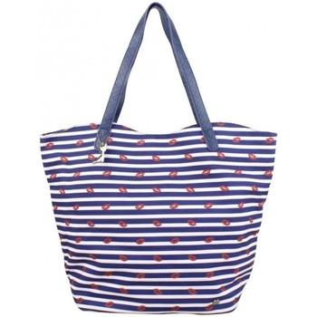 Sacs Femme Cabas / Sacs shopping Lollipops Sac trapèze  toile motifs Bisous bleu et blanc Multicolor