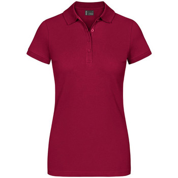 Vêtements Femme Polos manches courtes Promodoro EXCD Polo grandes tailles Femmes rouge grenade