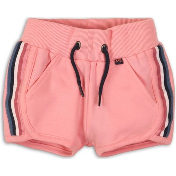 Vêtements Fille Shorts / Bermudas Koko Noko Short en molleton uni à bandes Rose