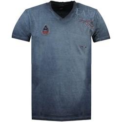 Vêtements Homme T-shirts manches courtes Geographical Norway Tshirt Homme Jadventure Bleu