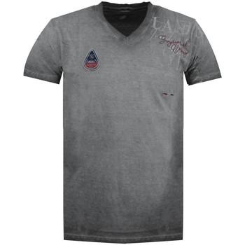 Vêtements Homme T-shirts manches courtes Geographical Norway Tshirt Homme Jadventure Gris