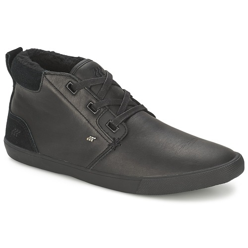 Chaussures Homme Baskets montantes Boxfresh SKELT FUR LEATHER Noir