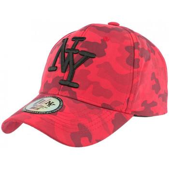 Accessoires textile Homme Casquettes Hip Hop Honour Casquette NY Militaire Rouge et Noire Fashion Baseball Kaska Rouge
