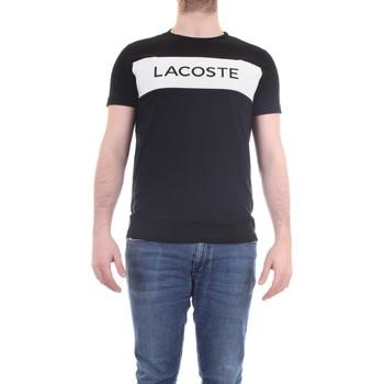 Vêtements Homme T-shirts manches courtes Lacoste TH4865-00 Noir / Blanc