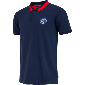 Vêtements Homme Polos manches courtes Weeplay Polo PSG Supporter logo bleu/rouge
