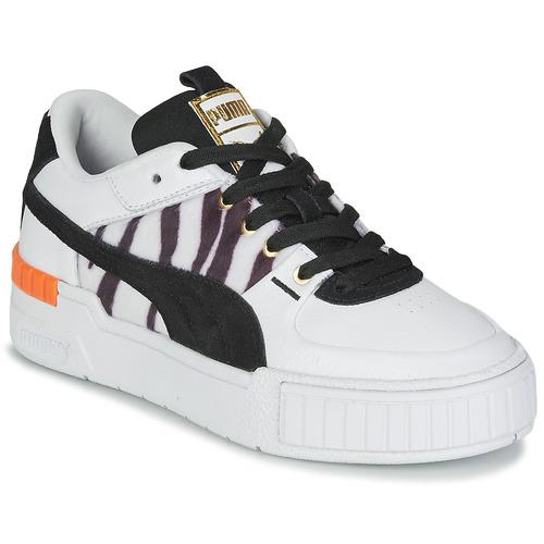 Puma CALI SPORT WILD Blanc / Noir - Chaussures Baskets basses ...