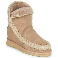 Chaussures Femme Boots Mou ESKIMO INNER WEDGE SHORT Beige