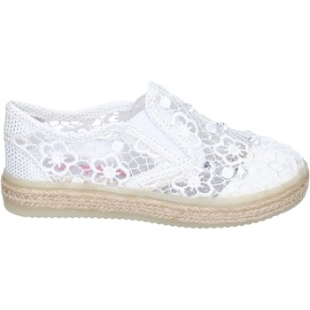 Chaussures Fille Slip ons Asso BM446 blanc