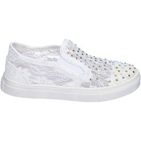Chaussures Fille Slip ons Asso slip on textile blanc